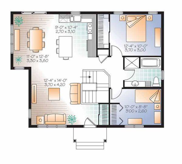 Traditional Floor Plan - Main Floor Plan Plan #23-2520