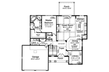 Country Floor Plan - Main Floor Plan Plan #46-867