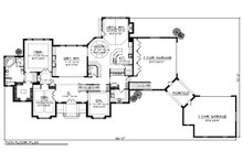 European Floor Plan - Main Floor Plan Plan #70-887