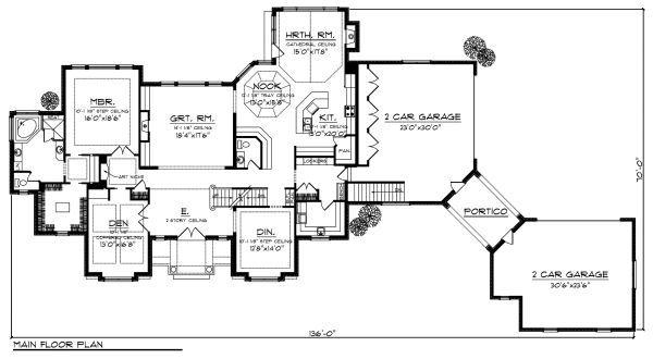 Dream House Plan - European Floor Plan - Main Floor Plan #70-887