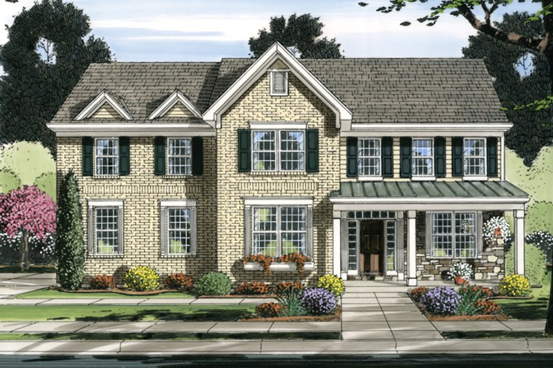 Traditional Exterior - Front Elevation Plan #46-837