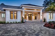 Mediterranean Style House Plan - 4 Beds 4.5 Baths 4030 Sq/Ft Plan #930-473 Exterior - Front Elevation