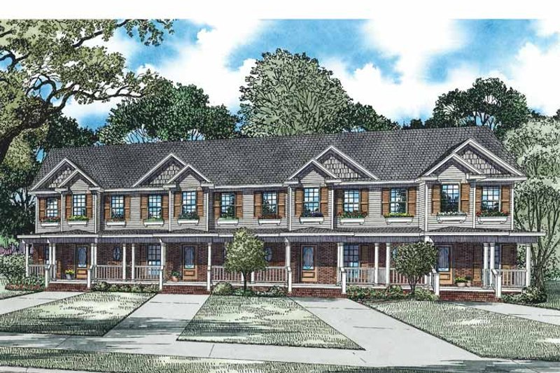 Traditional Exterior - Front Elevation Plan #17-3352 - Houseplans.com