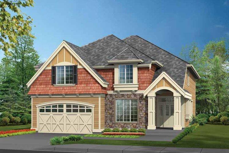 Architectural House Design - Craftsman Exterior - Front Elevation Plan #132-328