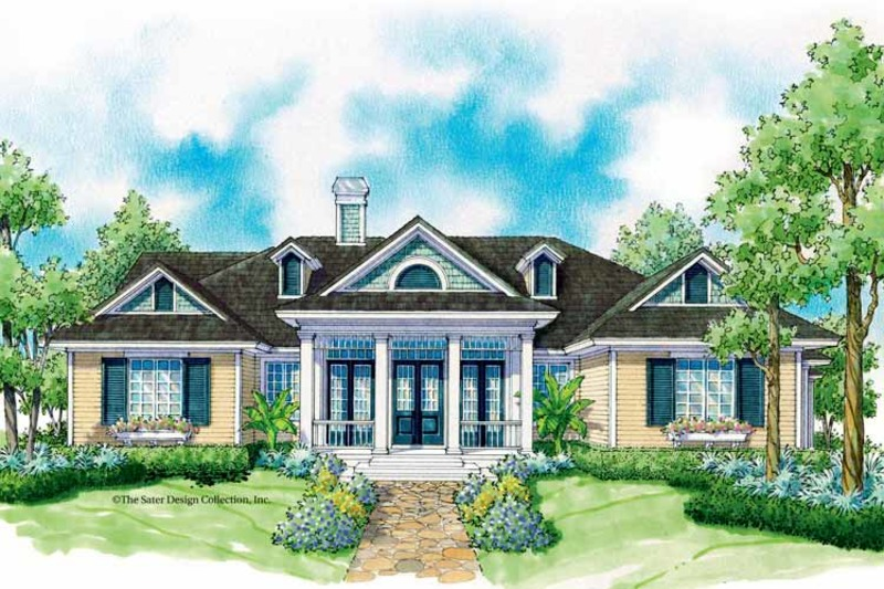 Colonial Exterior - Front Elevation Plan #930-244 - Houseplans.com