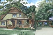 Craftsman Style House Plan - 3 Beds 3.5 Baths 2877 Sq/Ft Plan #17-3382 Exterior - Front Elevation