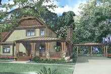 Architectural House Design - Craftsman Exterior - Front Elevation Plan #17-3382