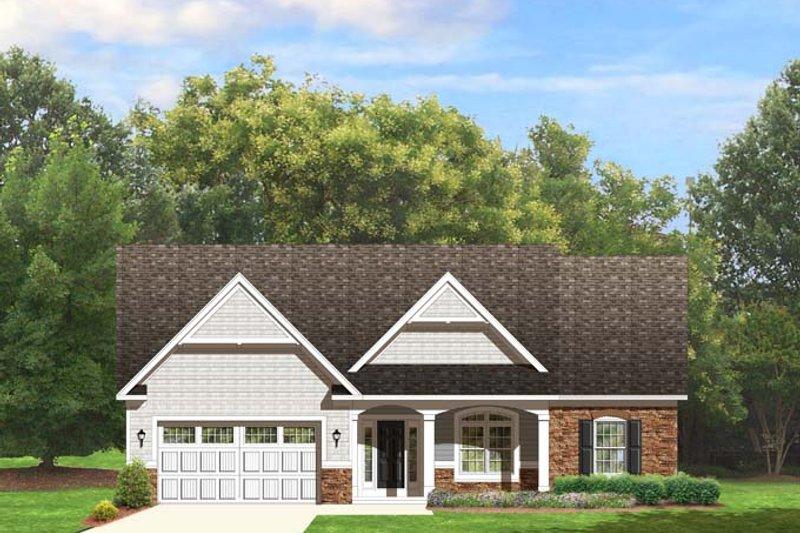 House Plan Design - Ranch Exterior - Front Elevation Plan #1010-72
