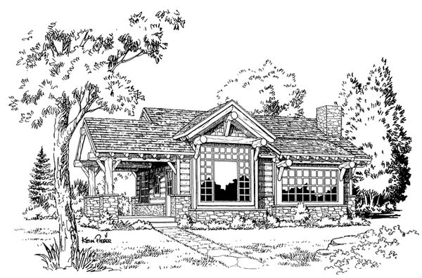 Cabin Floor Plan - Other Floor Plan Plan #942-14