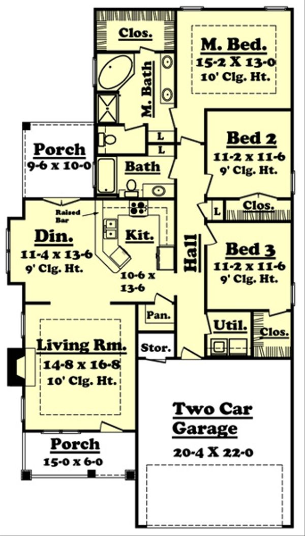 Dream House Plan - Cottage Floor Plan - Main Floor Plan #430-21