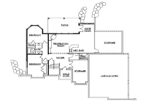 European Floor Plan - Lower Floor Plan Plan #5-382
