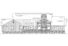 House Plan Design - Country Exterior - Rear Elevation Plan #5-311