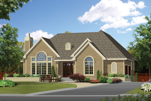Traditional Exterior - Front Elevation Plan #25-4854