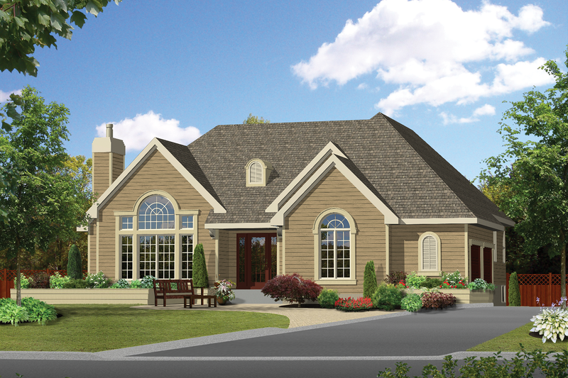 Traditional Style House Plan - 3 Beds 2 Baths 1681 Sq/Ft Plan #25-4854 Exterior - Front Elevation