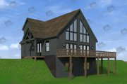 Cabin Style House Plan - 4 Beds 3 Baths 1736 Sq/Ft Plan #932-250 Exterior - Front Elevation