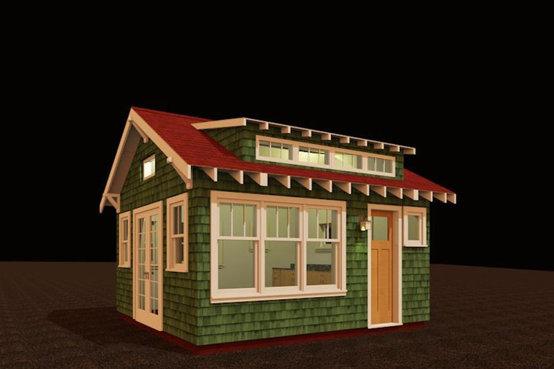 Craftsman Style House Plan - 1 Beds 1 Baths 192 Sq/Ft Plan #917-25 Exterior - Front Elevation