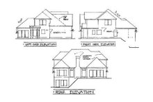 Home Plan Design - European Exterior - Rear Elevation Plan #56-186