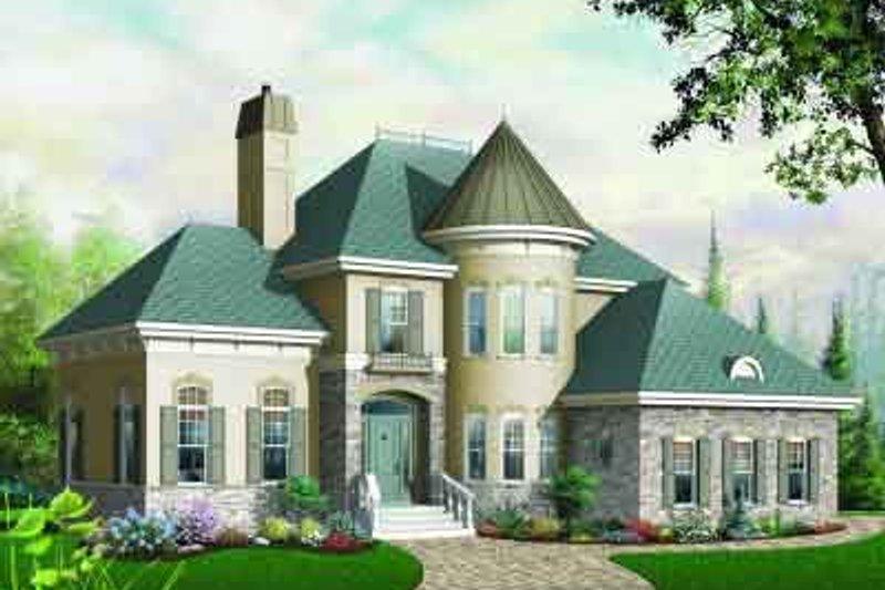 Dream House Plan - European Exterior - Front Elevation Plan #23-569