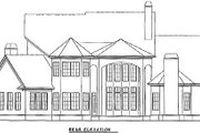European Style House Plan - 5 Beds 4.5 Baths 4353 Sq/Ft Plan #54-101 Exterior - Rear Elevation
