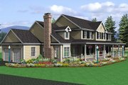 Farmhouse Style House Plan - 4 Beds 2.5 Baths 2787 Sq/Ft Plan #75-102 Exterior - Other Elevation
