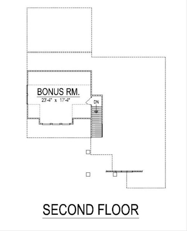 Craftsman Floor Plan - Upper Floor Plan Plan #458-16