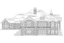 House Plan Design - European Exterior - Rear Elevation Plan #5-406