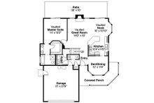 Traditional Floor Plan - Main Floor Plan Plan #124-444