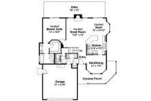 Traditional Floor Plan - Main Floor Plan Plan #124-444