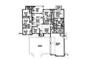 European Style House Plan - 4 Beds 3.5 Baths 2793 Sq/Ft Plan #310-994 Floor Plan - Main Floor
