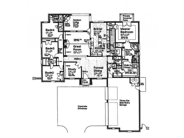 European Floor Plan - Main Floor Plan #310-994