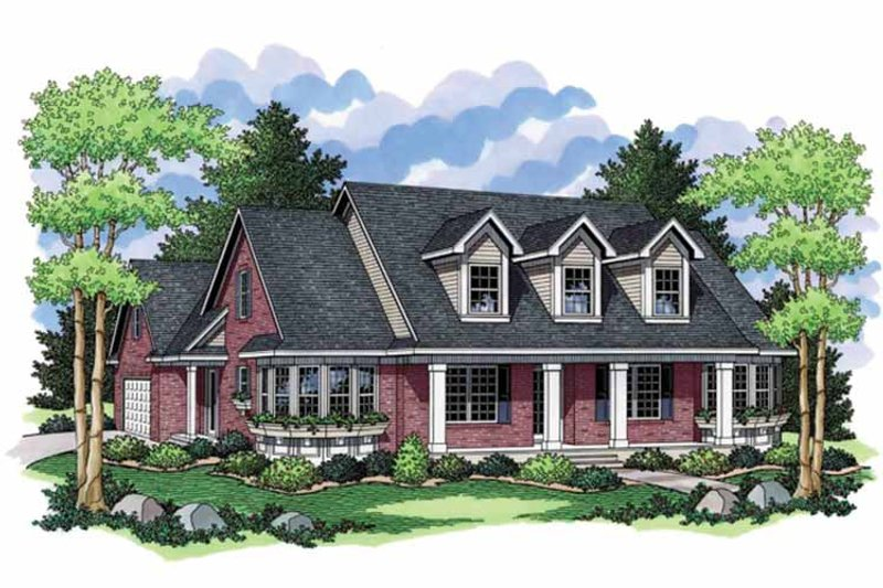 Country Exterior - Front Elevation Plan #51-1106