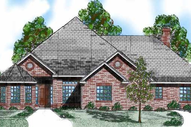 Traditional Exterior - Front Elevation Plan #52-269 - Houseplans.com
