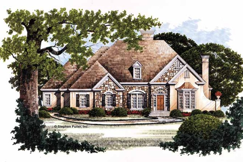 Architectural House Design - Country Exterior - Front Elevation Plan #429-79