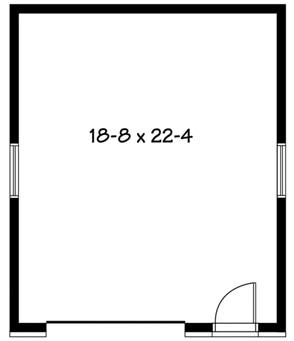 Contemporary Floor Plan - Main Floor Plan Plan #23-2563
