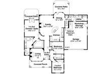 Craftsman Floor Plan - Main Floor Plan Plan #124-423