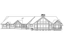 Craftsman Exterior - Rear Elevation Plan #124-1148