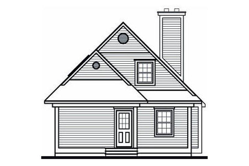 Beach Exterior - Rear Elevation Plan #23-866 - Houseplans.com