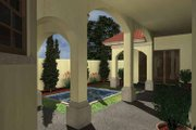 Mediterranean Style House Plan - 3 Beds 3 Baths 1892 Sq/Ft Plan #930-432 Exterior - Rear Elevation