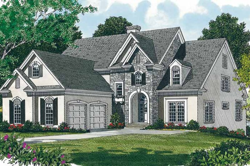 Country Exterior - Front Elevation Plan #453-105