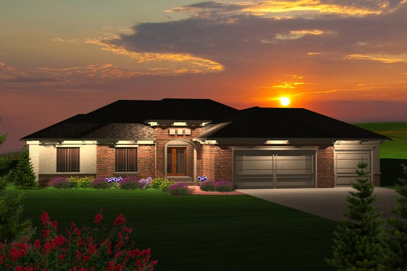 Ranch Exterior - Front Elevation Plan #70-1119 - Houseplans.com