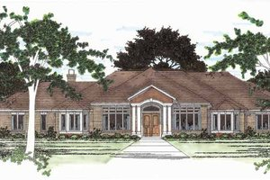 House Plan Design - Ranch Exterior - Front Elevation Plan #472-94