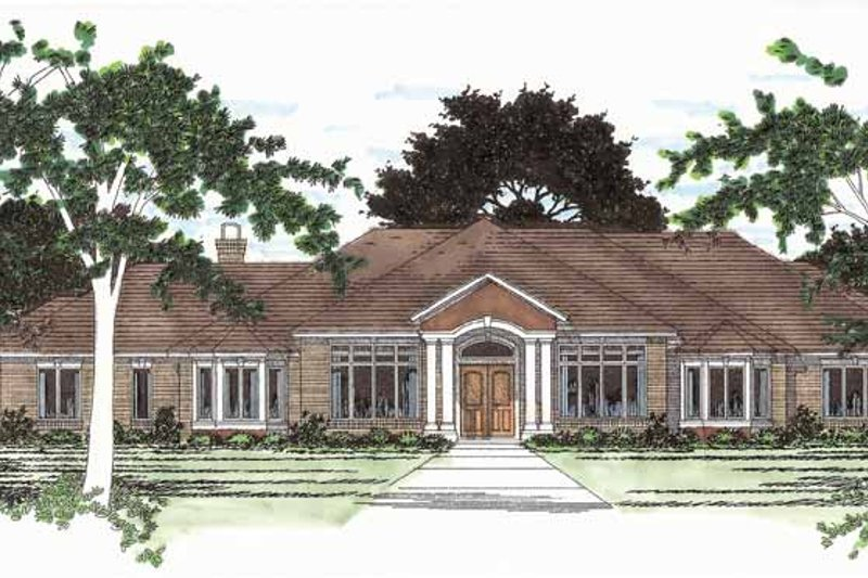 Ranch Exterior - Front Elevation Plan #472-94