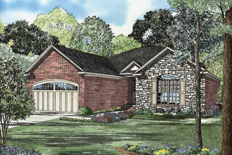 Home Plan - Country Exterior - Front Elevation Plan #17-3166