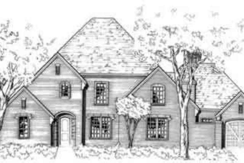 European Style House Plan - 4 Beds 3.5 Baths 3519 Sq/Ft Plan #141-116