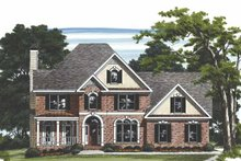 House Plan Design - Traditional Exterior - Front Elevation Plan #927-466