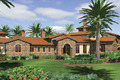 Mediterranean Style House Plan - 5 Beds 5 Baths 6484 Sq/Ft Plan #48-361 Exterior - Front Elevation