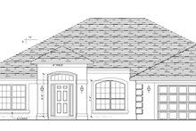 Prairie Exterior - Front Elevation Plan #1058-26