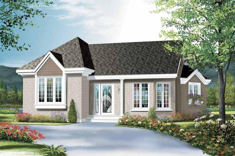 House Plan Design - Bungalow Exterior - Front Elevation Plan #23-2357