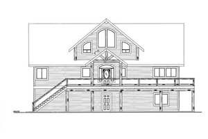 Cabin Exterior - Front Elevation Plan #117-781