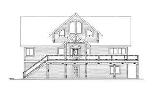 Cabin Exterior - Front Elevation Plan #117-781